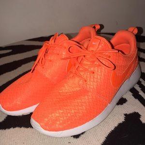 Orange Nike sneakers women's 8